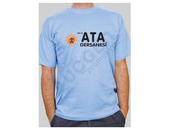Hediye 1.Kalite %100 Pamuk Dikişli Bisiklet Yaka Penye T-shirt Tişört