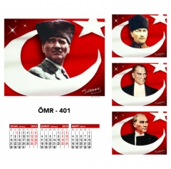 Ankara ÖMR-401 Dört Yapraklı Kuşe Takvim