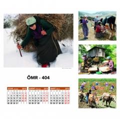 Ankara ÖMR-404 Dört Yapraklı Kuşe Takvim