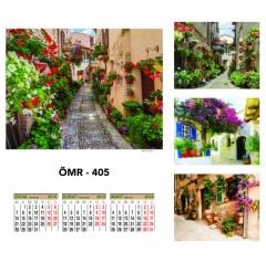 Ankara ÖMR-405 Dört Yapraklı Kuşe Takvim