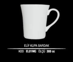 Ankara Porselen Elif Kupa Bardak EL01MG (Seramik Değildir)