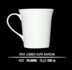 Ankara Porselen Viva Jumbo Kupa Bardak VVJBMG (Seramik Değildir)